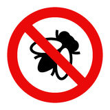 Sinal de aviso da mosca ilustração do vetor