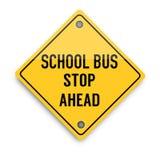 Sinal de aviso da parada de ônibus escolar, cartaz abstrato do negócio da qualidade super ilustração stock