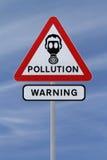 Sinal de aviso da poluição Imagens de Stock