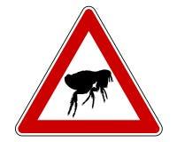 Sinal de aviso da pulga ilustração stock