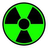 Sinal de aviso da radiação ilustração royalty free