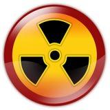 Sinal de aviso da radiação Fotos de Stock Royalty Free