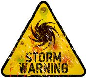 Sinal de aviso da tempestade ilustração stock