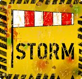 Sinal de aviso da tempestade, estilo sujo ilustração do vetor