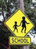 Sinal de aviso da zona da escola Imagens de Stock Royalty Free
