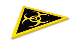 Sinal de aviso de Biohazard imagens de stock