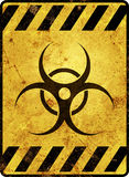 Sinal de aviso de Biohazard ilustração royalty free