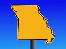 Sinal de aviso de Missouri ilustração royalty free