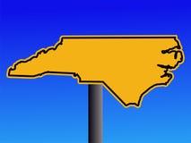 Sinal de aviso de North Carolina ilustração stock