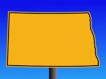 Sinal de aviso de North Dakota ilustração do vetor