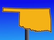 Sinal de aviso de Oklahoma ilustração stock