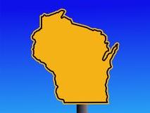 Sinal de aviso de Wisconsin ilustração do vetor