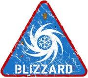 Sinal de aviso do blizzard ilustração stock