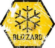 Sinal de aviso do blizzard, vetor ilustração stock