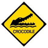 Sinal de aviso do crocodilo ilustração do vetor