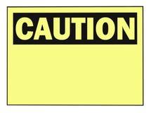 Sinal de aviso do cuidado Fotografia de Stock Royalty Free