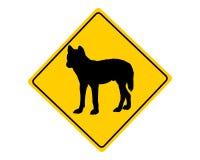 Sinal de aviso do dingo ilustração do vetor