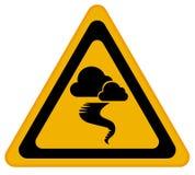 Sinal de aviso do furacão ilustração do vetor