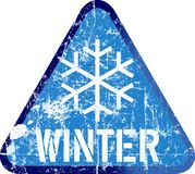Sinal de aviso do inverno, ilustração do vetor ilustração do vetor