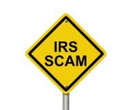 Sinal de aviso do IRS Scam ilustração do vetor