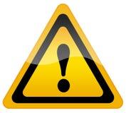 Sinal de aviso do perigo ilustração stock