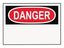 Sinal de aviso do perigo imagem de stock