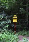 Sinal de aviso do perigo Fotos de Stock Royalty Free
