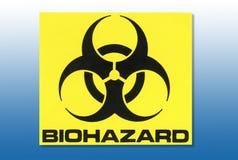 Sinal de aviso do perigo - Biohazard ilustração stock