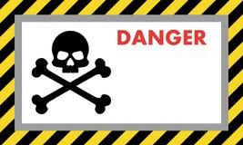Sinal de aviso do perigo com crânio, com espaço para a explicação do texto Ilustração do vetor para sua água fresca de design ilustração do vetor