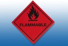 Sinal de aviso do perigo - inflamável ilustração stock