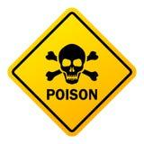 Sinal de aviso do perigo do veneno ilustração royalty free
