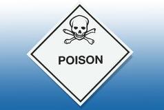 Sinal de aviso do perigo - veneno ilustração royalty free
