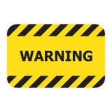 Sinal de aviso do retângulo, ilustração do vetor ilustração stock