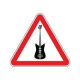 Sinal de aviso do rock and roll Música rock do cuidado ilustração do vetor