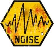 Sinal de aviso do ruído ilustração stock