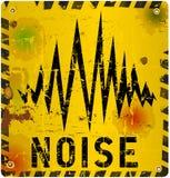 Sinal de aviso do ruído ilustração do vetor