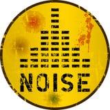 Sinal de aviso do ruído, ilustração royalty free