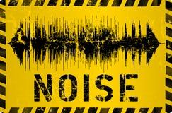 Sinal de aviso do ruído, ilustração do vetor
