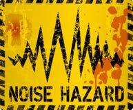 Sinal de aviso do ruído, estilo sujo ilustração royalty free