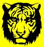 Sinal de aviso do tigre ilustração stock