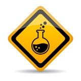 Sinal de aviso dos produtos químicos do perigo ilustração royalty free