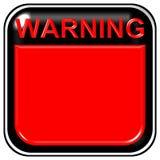 Sinal de aviso em branco ilustração stock