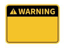 Sinal de aviso Sinal de aviso em branco Vetor ilustração do vetor