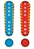 Sinal de aviso falsificado da notícia ilustração do vetor