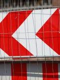 Sinal de aviso fechado estrada dos sinais de tráfego Imagens de Stock
