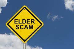 Sinal de aviso mais velho de Scam imagens de stock