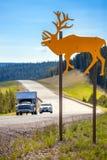 Sinal de aviso no esconderijo grandioso Canadá fotos de stock