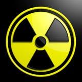 Sinal de aviso nuclear ilustração do vetor