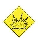 Sinal de aviso para compostos explosivos Foto de Stock