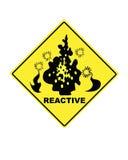 Sinal de aviso para compostos reativos Imagem de Stock